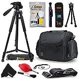 """Premium Camera Case + 72"""" Tripod w/ 3 Way Pan-head + Accessories kit for Canon Cameras (Tripod & Case)"""
