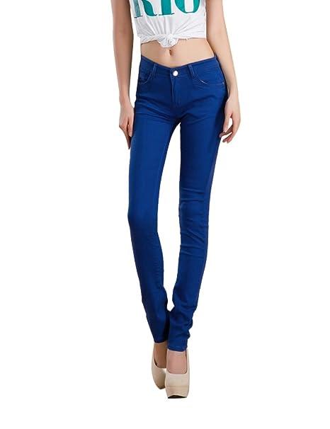 Demon&Hunter 822 Skinny Series Mujer Pantalones Vaqueros Pitillos Elevar Curva Jeans