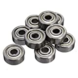 100pcs 623ZZ 3mm x 10mm x 4mm Double Shielded Deep Groove Precision Ball Bearing