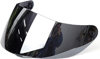 Wooya Completa Cara Motocicleta Casco Anti-Scratch Shield Visera para Agv K5 K3Sv 316 902-Plata