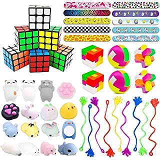 40PCS Carnival Prizes for Kids Birthday Party Favors, Prizes Box Toy Assortment Bundle for Classroom Rewards, Pinata Filler, Treasure Box, Goodie Bag Filler, School Supplies for Students
