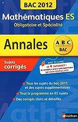 ANNALES BAC 2012 MATHS ES OBLI