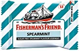 Fisherman's Friend Sugar Free Refreshing Spearmint Flavor Cough Lozenges, 25g pack, (Pack of 12 - Sealed in One Transparent Original Manufacture Box)