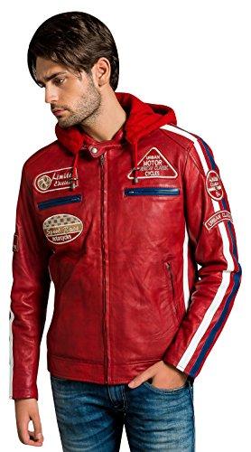 Breaker Giacca Leather Wax Colore Uomo Da Urban Rosso qCvdxT5