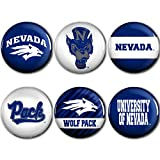 WinCraft Nevada Wolf Pack Official NCAA Metal Button Badge Pin Set 6 991829