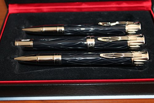 Montblanc Mark Twain Fountain Pen, Ballpoint and Mechanical Pencil 3pc Set NEW by MONTBLANC
