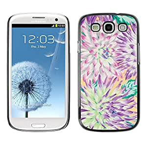 Paccase / SLIM PC / Aliminium Casa Carcasa Funda Case Cover para - Flower Chrysanthemum Summer Petal - Samsung Galaxy S3 I9300