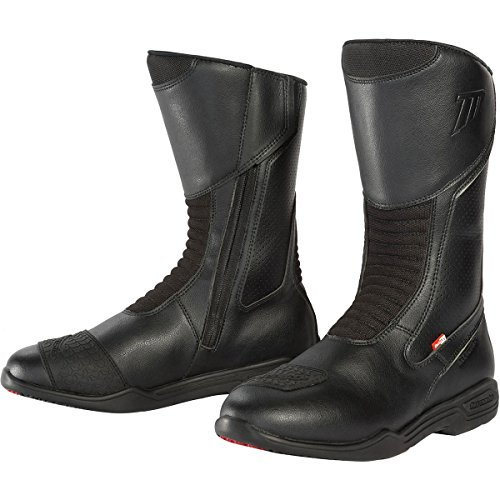 (TourMaster Men's Epic Air Touring Motorcycle Boots (Black, Size 11W))