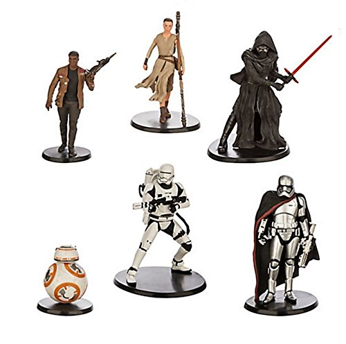 TOP Satisfied 6xPACK StarWars Force Awakens Figure Cake Topper TV Movie Toy Set Kylo Ren Finn Rey Captain Phasma BB8 Storm Troope