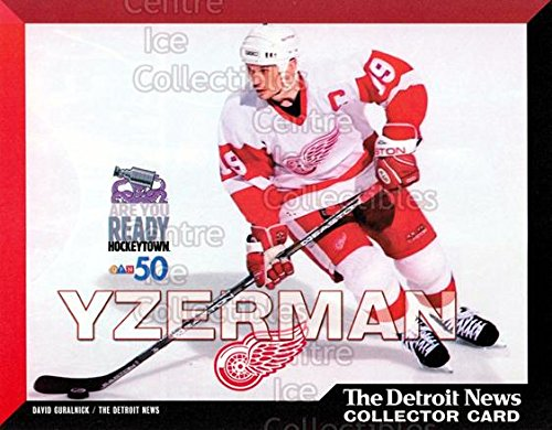 (CI) Steve Yzerman Hockey Card 1999-00 Detroit Red Wings Detroit News Collector Cards 2 Steve Yzerman
