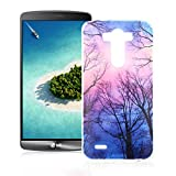 OuDu Silicone Case for LG G3 Soft TPU Rubber Cover Flexible Slim Case Smooth Lightweight Skin Ultra Thin Shell Creative Design Cover - Forest under the Starlight