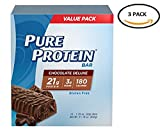 Pack of 3-Pure Protein Chocolate Deluxe,Gluten Free, 50 gram, 12 Count Each