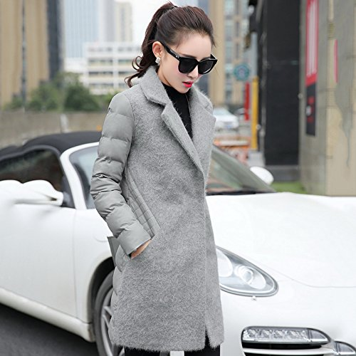 And Large Grey Lap Sau Coat Thick Video Winter Xuanku Number Of Is Women Thin Jacket Hair A Cotton Autumn Section Cotton Stitched Long qqzUvx