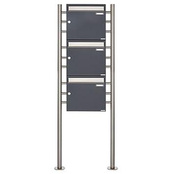 3er Standbriefkasten - 3 fach Briefkastenanlage Design BASIC 381 ...