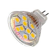 Led Bulb Light - SODIAL(R) MR11 LED Light 9SMD Bulb Lamp AC&DC 12V Type:MR11 9Smd 5050 Light Color:Pure White Pack of:1X