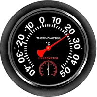 """KELIXU Indoor/Outdoor 10"""" Thermometer Hygrometer for Room, Kitchen, Patio, Wall Metal Decorative No Battery Required Big…"""