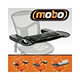 Mobo Chair Mount Ergo MECS-BLK-001 Keyboard/Mouse Tray System - NEW - Retail - MECS-BLK-001 by Mobo