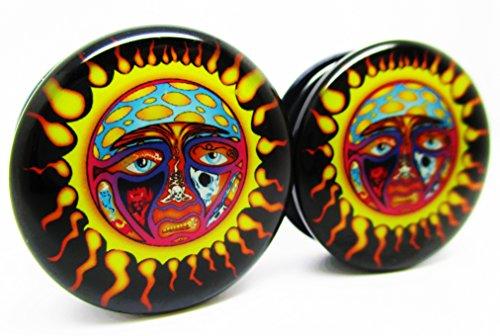 - Pierced Republic Sublime Sun Ear Plugs - Acrylic Screw-On - 10 Sizes - Brand NewPair (00 Gauge (10mm))