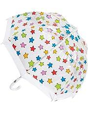 CLIFTON UMBRELLAS Multi Stars Design Kid Friendly PVC Birdcage Umbrella, Rainbow, One Size