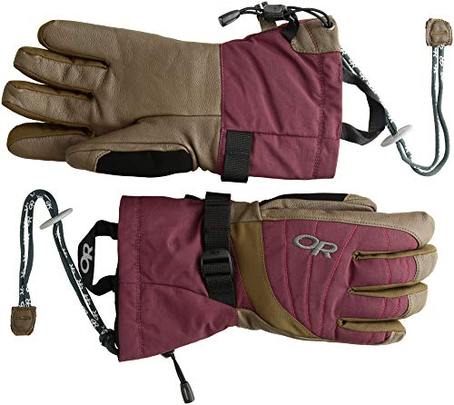 Outdoor Research Women's Revolution Gloves, Zinc/Carob/Tomato, ()