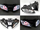 Angel Eye HID Projector Demon Eye Headlight Assembly for 2006-2007 Yamaha YZF R6
