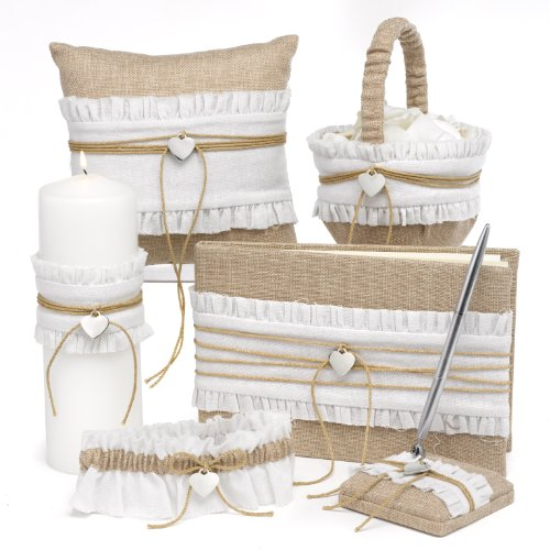 Hortense B. Hewitt Rustic Romance Wedding Accessories, Flower Basket