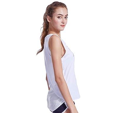 Deportes Chaleco Femenino Suelto Yoga sin Mangas Running ...