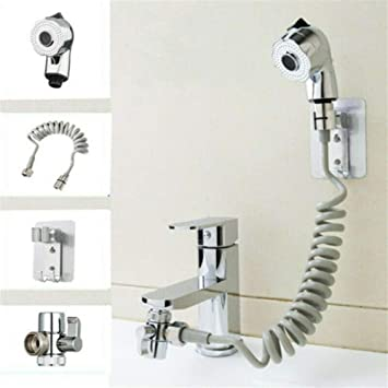 Four Piece Washing Faucet Toilet Water Nozzle Shower Head Sprinkler Handheld Bidet Sprayer Shower Sprinkler Head 3m Hose Handheld Showerheads Amazon Canada