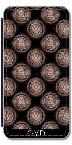 Leder Flip Case Tasche Hülle für Apple Iphone 7 / Iphone 8 - Roségold Schwarze Punkte Muster by Nina Baydur