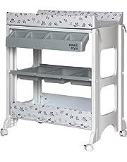 ib style® ISA Commode met badje | Mobiele Verzorgingstafel Luiertafel | Verrijdbaar met wieltjes | versch. designs