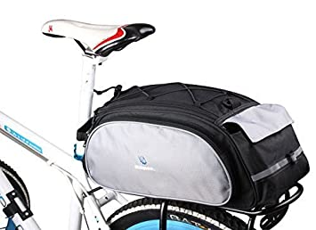 afa8673a51c Roswheel 13L Bolsa trasera para bicicleta Alforja para bicicleta trasera  bicicleta trasera para bicicleta de equipaje grandes rack impermeable  Asiento ...