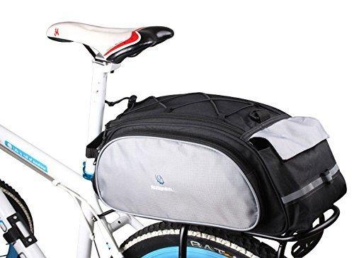 Roswheel New Arrival Bike Bicycle Rack Bag Seat Cargo Bag Rear Pack Trunk Pannier Handbag Multifunctional Bag (Black&Grey)