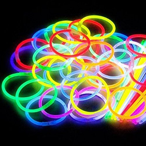 200 8'' Glow Stick Bracelets,mixed Colors(Tube Pack)