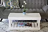 White Slatted Bottom Coffee Table
