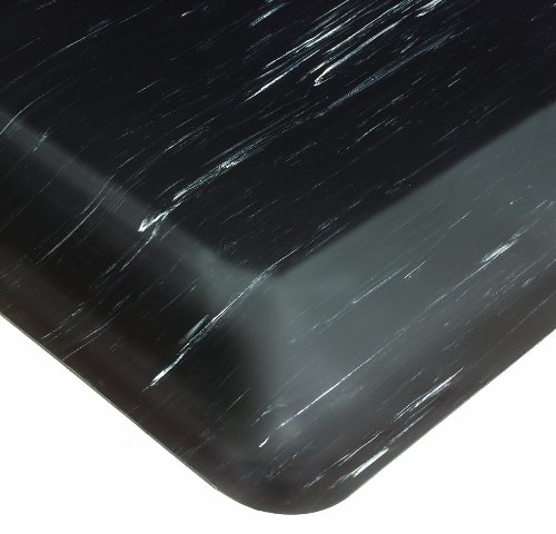 - Wearwell PVC 496 Smart Tile-Top Medium Duty Anti-Fatigue Mat, Tapered Edges, for Dry Areas, 2' Width x 3' Length x 1/2