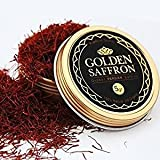 Golden Saffron, Finest Premium Persian All Red Saffron, Grade A+, Highest Grade 5 Grams (0.18 OZ)