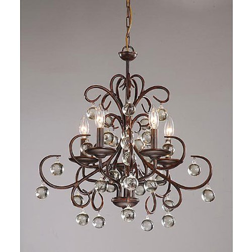 Jojospring Wrought Crystal 5light Chandelier Amazon – Bronze Chandelier with Crystals