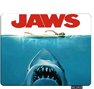 Nicokee Shark Gaming Mousepad Jaws Biting Shark Naked Girl Swimming Mouse Pad Rectangle Mouse Mat for Computer Desk Laptop Office 9.5 X 7.9 Inch Non-Slip Rubber