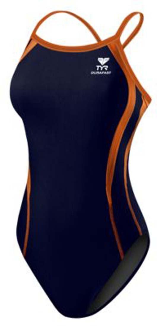 TYR Sport DPSP7Y Girls Durafast One Alliance Splice Diamondfit Swimsuit,Navy/Org,20