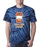"""The Silo NAVY TIE-DYE Houston Beltran """"Fear The Beard"""" T-Shirt"""