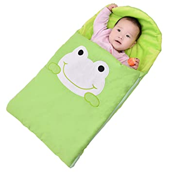 ML Saco de Dormir para bebé, Forma de Rana de Dibujos Animados, Babuino recién