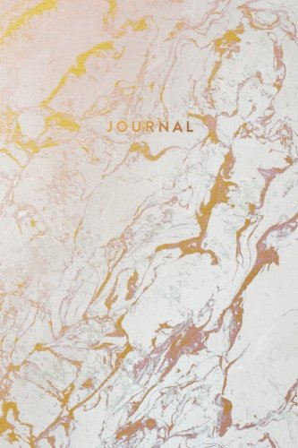 Journal: Beautiful White and Rose Marble with Gold Inlay - Marble & Gold Journal | 120 College-ruled Pages | 6 x 9 Size (Marble + Gold Collection - Journal, Notebook, Diary, Composition Book)