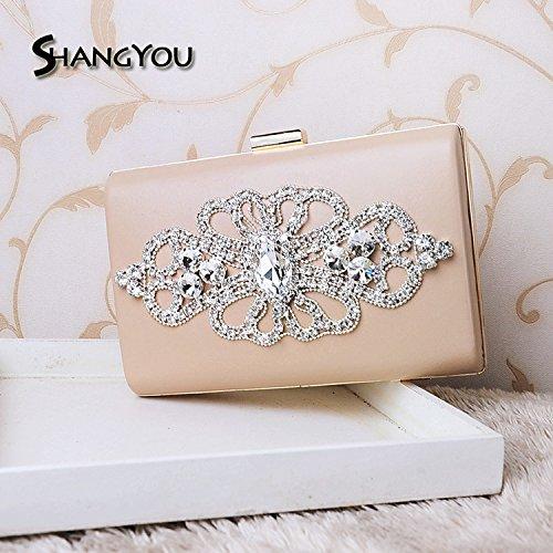 handbag FYios banquet bag end banquet drill dress Evening handbag gules celebrity high diamond CCgq4an