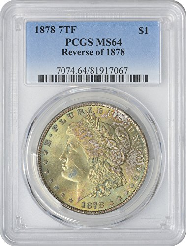 1878 Morgan Silver Dollar Golden Green Toned Obverse MS64 PCGS (Toned Obverse)