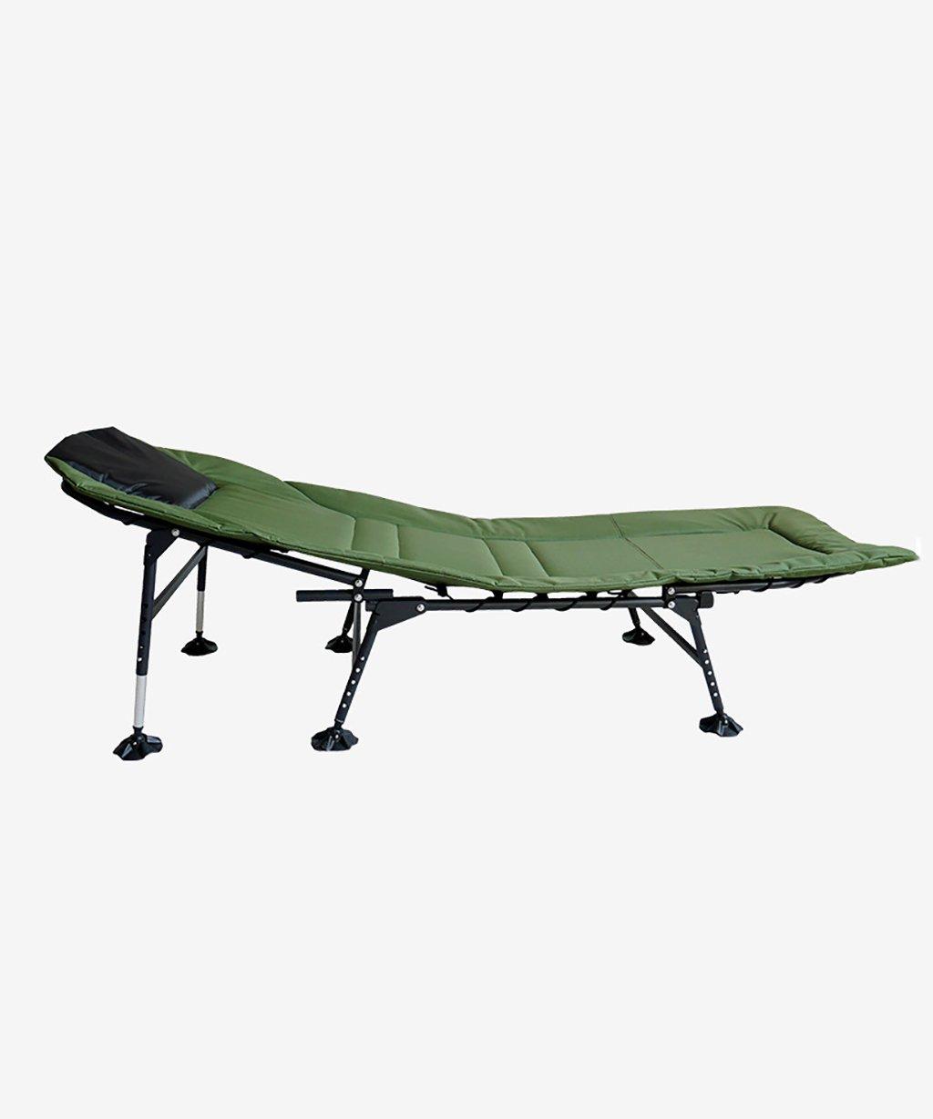 LIANJUN Camping Wide Bed Stuhl Wasserdicht und Fischen Zubehör Beach Chair Army Grün-L  W  H170  60  32-42cm (einstellbar)