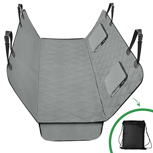 Quilted Shift - CaringEver Luxury Quilted Large pet Seat Cover with Pet Seatbelt & Silicone Food Bowl, Machine-Washable & Scratch-Proof Car-Seat Protectors for Dogs waterproof pet seat covers by