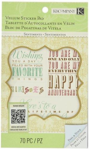 K&Company Beyond Postmarks Floral Sentiments Sticker Pad