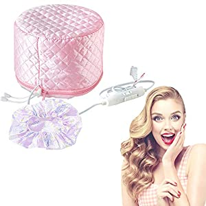 Best Epic Trends 51pGEhzGqJL._SS300_ Hair Care Cap, 110V Hair Heat Treatment Cap, Deep Conditioning Heat Cap, Thermal Treatment Caps for Hair Spa, Beauty…