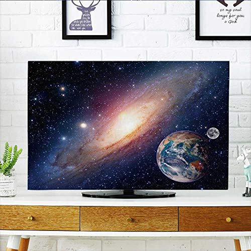 Philiphome Cord Cover for Wall Mounted tv Astrology Astronomy Earth Moon Space Bang Solar System Planet Cover Mounted tv W32 x H51 INCH/TV 55'' by Philiphome