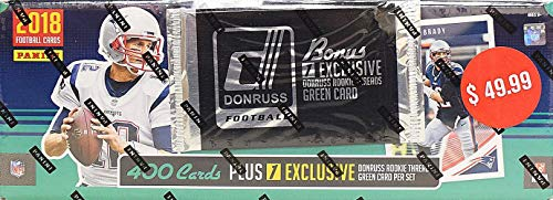 2018 Panini Donruss NFL Football Factory Set (prepriced $49.99, 401 cards incl. ONE exclusive Memorabilia card)